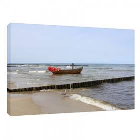 Leinwandbild Leinwanddruck Ostsee Meer Boot ab 40 x 30 cm