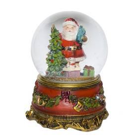 Weihnachten Weihnachtsmann Schneekugel Spieluhr We wish you