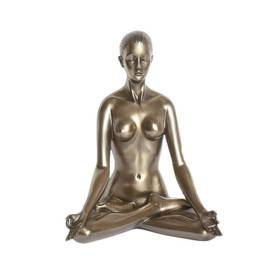 Body Talk Yoga Figur Padmasana Lotus Pose Bronzeoptik