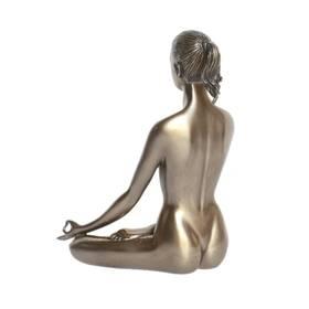 Body Talk Yoga Figur Padmasana Lotus Pose Bronzeoptik – Bild 2