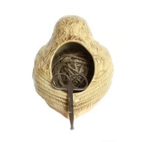 Strickhalter Vogel Seilhalter mit Schere – Bild 2