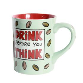 Tasse Kaffeepot Becher Drink before you think – Bild 1