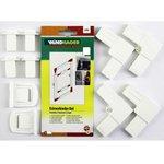 Windhager Eckverbinder mit Metallkern f. 25mm Profil 03595 Weiß 03596 Braun