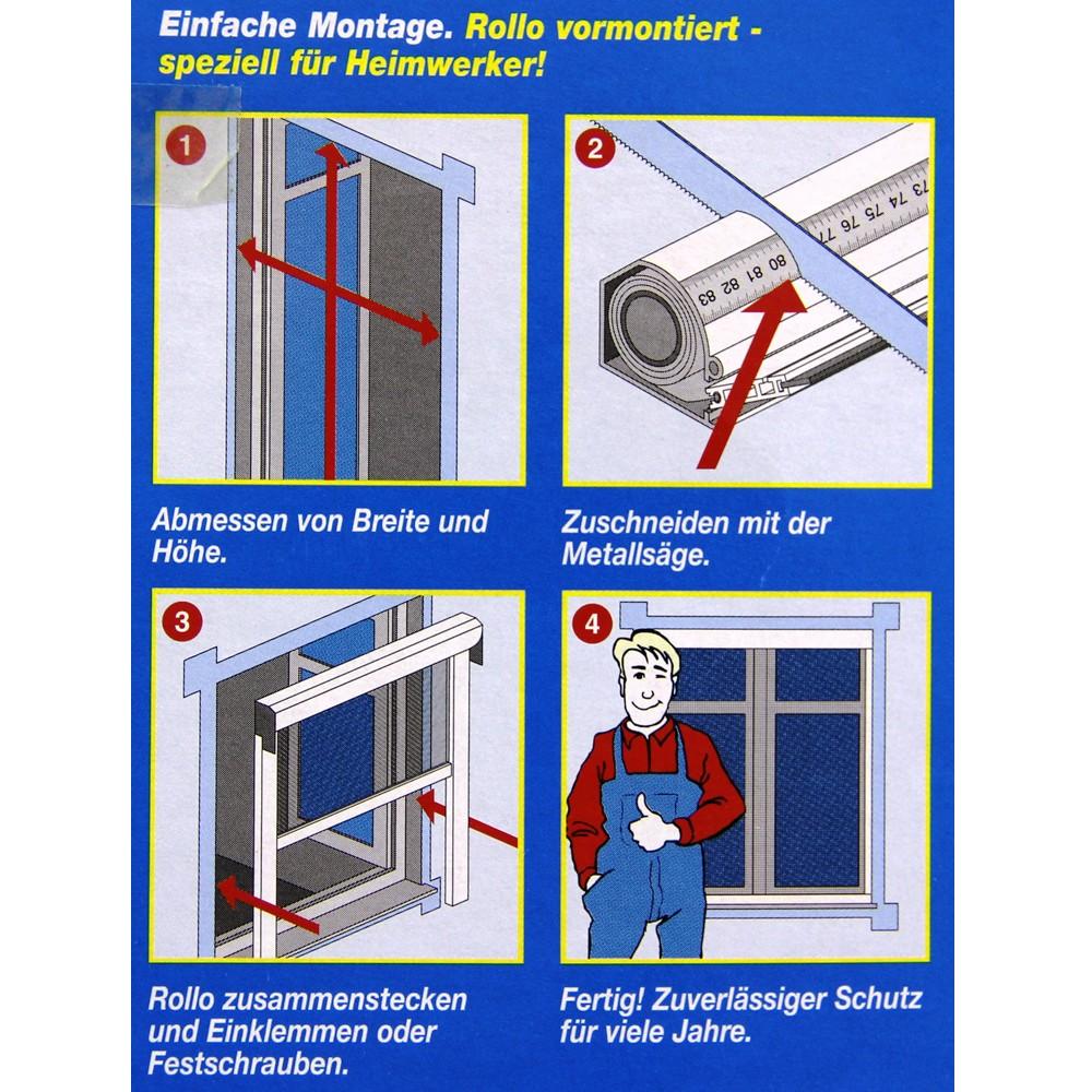 fliegengitter insektenschutz rollo schiebet r fenster o. Black Bedroom Furniture Sets. Home Design Ideas