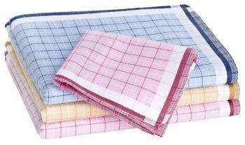 Tobeni 12 Stück Damen Stoff Taschentücher aus 100% Baumwolle 30 cm x 30 cm – Bild 9