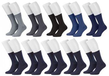 Tobeni 10 Paar Herrensocken Business Socken 100% Baumwolle Spitze ohne Naht – Bild 10