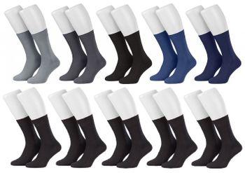 Tobeni 10 Paar Herrensocken Business Socken 100% Baumwolle Spitze ohne Naht – Bild 11