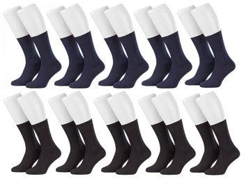 Tobeni 10 Paar Herrensocken Business Socken 100% Baumwolle Spitze ohne Naht – Bild 13