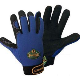 1 Paar FerdyF Montage Handschuhe Allrounder Mechanics Blau-Schwarz – Bild 1