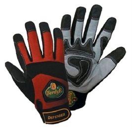 1 Paar FerdyF Mechanics Handschuhe Defender Rot-Schwarz