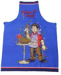 Tobeni® 1708-005 Schürze Take it easy für Grill und Küche in 100 Baumwolle