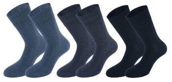 Tobeni 6 Paar Herren Diabetiker Socken Baumwolle mit Elasthan und Softrand ohne Gummi – Bild 2