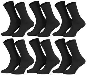 Tobeni 6 Paar Herren Diabetiker Socken Baumwolle mit Elasthan und Softrand ohne Gummi – Bild 7