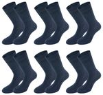 Tobeni 6 Paar Herren Diabetiker Socken Baumwolle mit Elasthan und Softrand ohne Gummi Bild 8