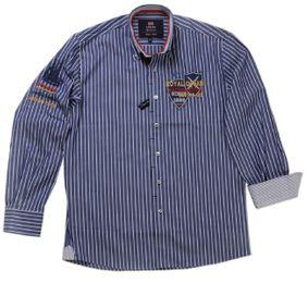 Tobeni Herren Marken Hemd mit Langarm Casual-Style in verschiedenen Farben