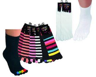 Tobeni® 231.007 6-er Pack Zehensocken für Teenager und Damen One Size bunt sortiert