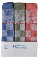 Triolino 3-er Set Jacquard Halbleinen Geschirrtücher Küchentücher – Bild 12