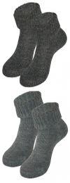 Tobeni 2 Paar Damen Socken Home Socks mit Umschlag aus hochwertiger Wolle – Bild 13