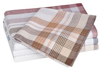 Tobeni 10 Herren Stoff Taschentücher aus 100% gekämmte Baumwolle 40 cm x 40 cm – Bild 10