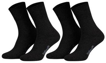 Tobeni 8 Paar Socken in Baumwolle mit Komfortbund ohne Gummi für Damen und Herren – Bild 3