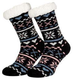 Tobeni 1 Paar Damen Homeshoe ABS Socken Kuschelsocken mit Anti-Rutsch Noppen Sohle – Bild 24