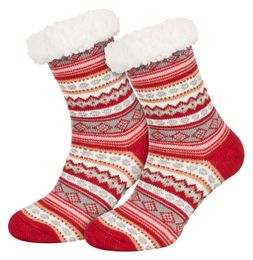 Tobeni 1 Paar Damen Homeshoe ABS Socken Kuschelsocken mit Anti-Rutsch Noppen Sohle – Bild 14