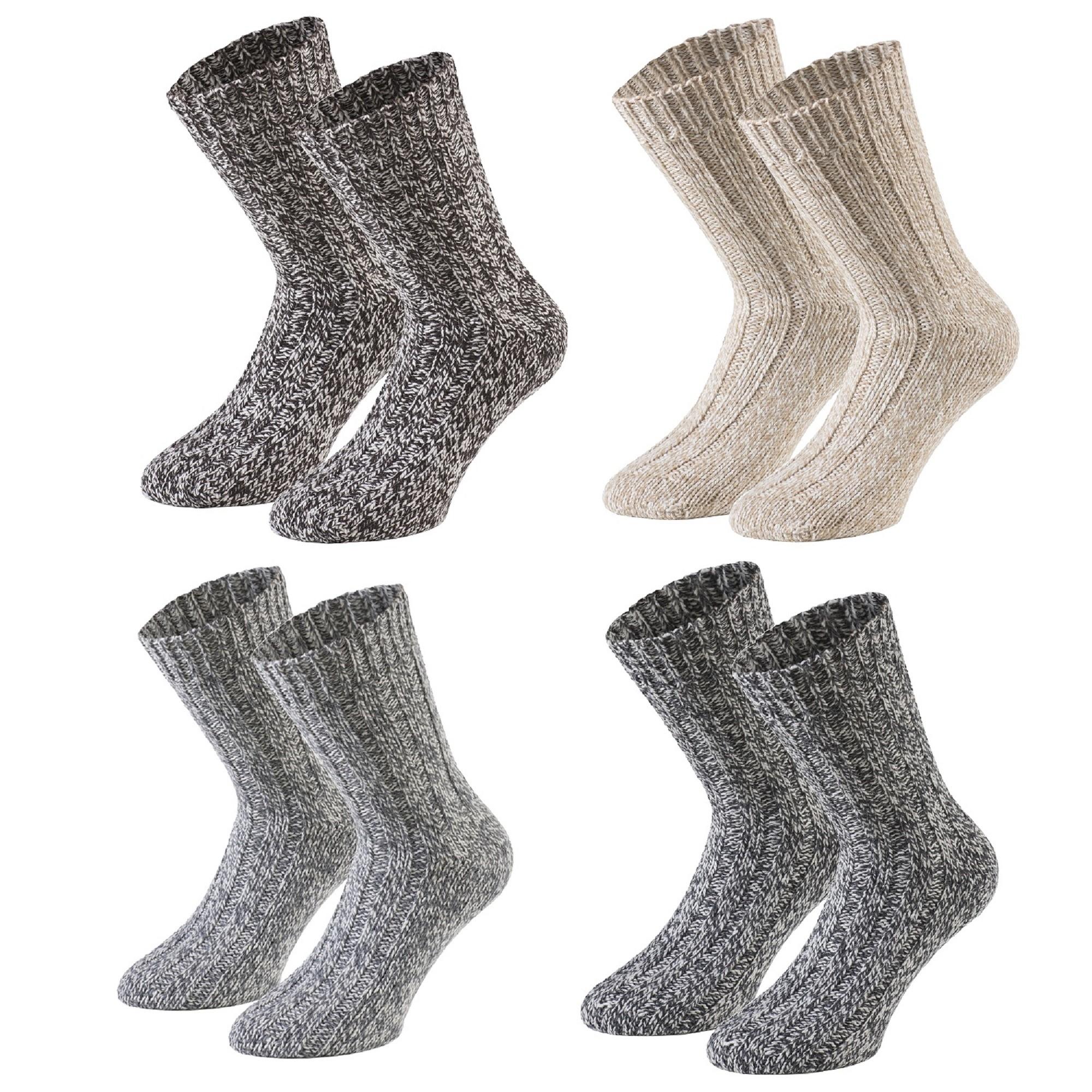 beste Seite große Auswahl Wählen Sie für echte Tobeni 4 Paar warme Damen Herren Norweger Socken Wintersocken  Schafwollsocken vorgewaschen Unisex