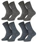 Tobeni 4 Paar warme Norwegersocken Wintersocken mit Wolle vorgewaschen für Damen und Herren
