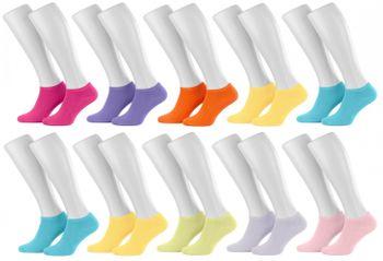 Tobeni 10 Paar Sneakersocken Füsslinge Baumwolle Spitze ohne Naht für Damen Herren und Teenager