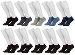 Tobeni 10 Paar Sneakersocken Füsslinge Baumwolle Spitze ohne Naht für Damen Herren und Teenager Bild 7