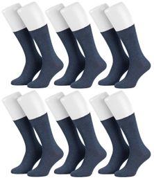 Tobeni 6 Paar Herrensocken Diabetiker Socken Baumwolle ganz ohne Gummi – Bild 5