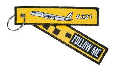 """""""Follow Me"""" - A321 Schlüsselanhänger"""
