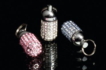 "Adresstube ""Pretty"" Strass Silber"