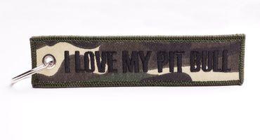I LOVE MY PIT BULL Schlüsselanhänger - Camouflage – Bild 2
