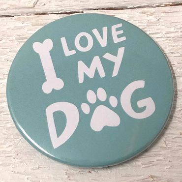 """I LOVE MY DOG - Mint""Magnet-Flaschenöffner"