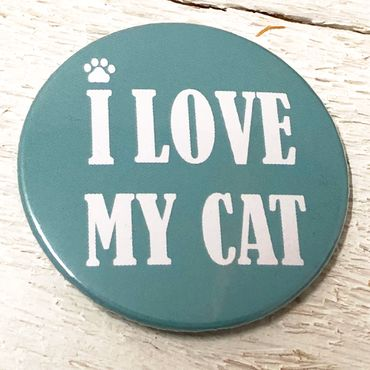 """I LOVE MY CAT - mint"" Magnet-Flaschnöffner – Bild 1"