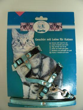 Garnituren für Katzen L: 110 cm B: 10 mm blau
