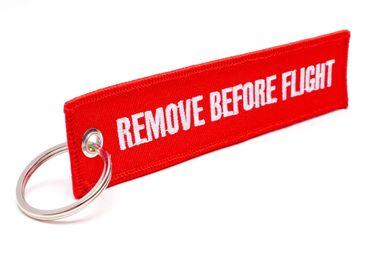 REMOVE BEFORE FLIGHT ® Schlüsselanhänger – 5er Set in ROT | RBF-501 | Original EU Marke  – Bild 2