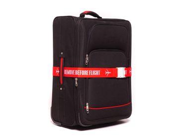 REMOVE BEFORE FLIGHT Design Kofferband, gewebt – Bild 3