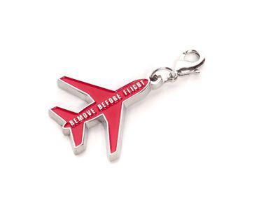 REMOVE BEFORE FLIGHT Phantasie Metall-Schlüsselanhänger mit Klipp Original EU Marke • DE Händler – Bild 1