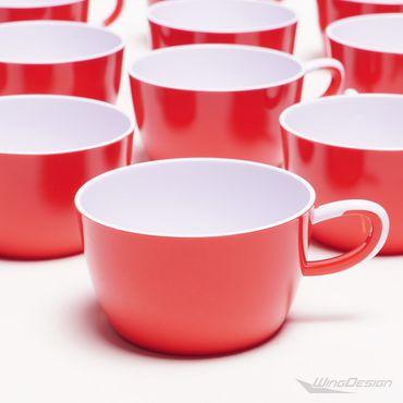 airberlin Kunststoff Tasse rot-weiss 12er-Set NEU – Bild 3