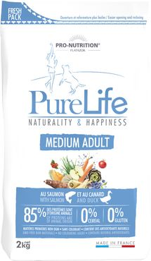 Pure Life Puppy 2 kg  Naturality & Happiness MEDIUM ADULT