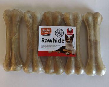 Kauknochen Rinderhaut, gepresst L: 12.5 cm 60 - 70 g