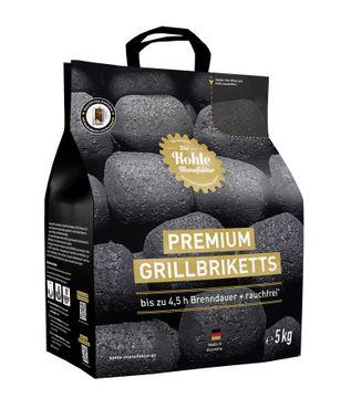 Die Kohle Manufaktur Premium Grillbriketts 5 kg long tasting – Bild 1