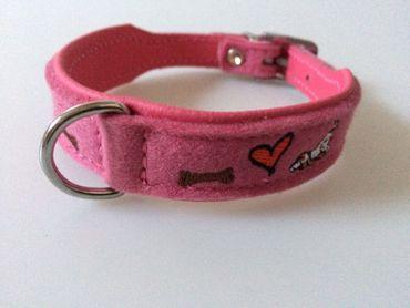 Hundehalsband Montenegro Gr. S Pink – Bild 1