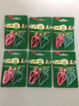 Futterhalter aus Plastik - 2er Set 6erPack