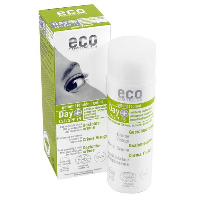 eco cosmetics Day+ Gesichtscreme LSF 15 getönt