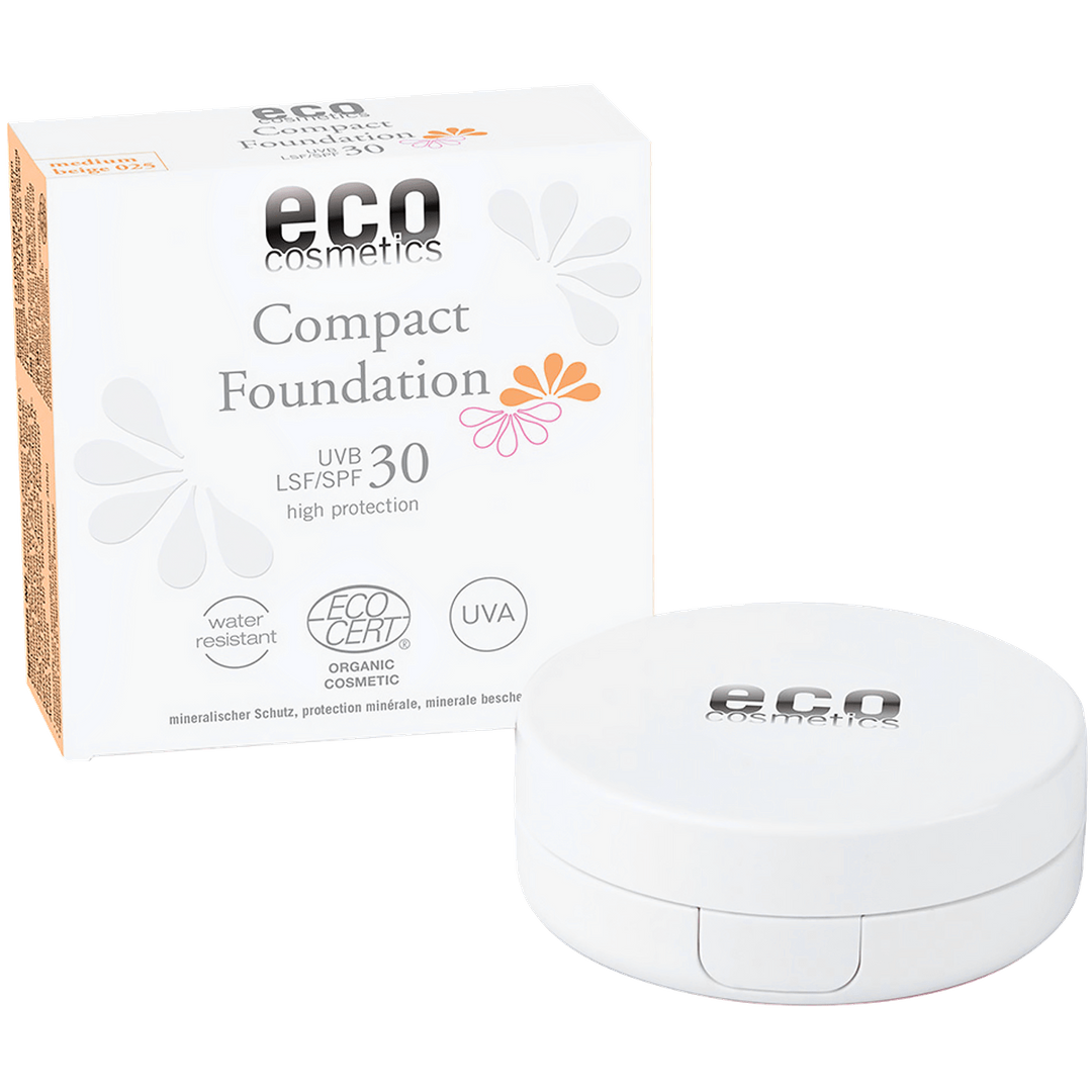 eco cosmetics Compact Foundation LSF/SPF 30 beige 30