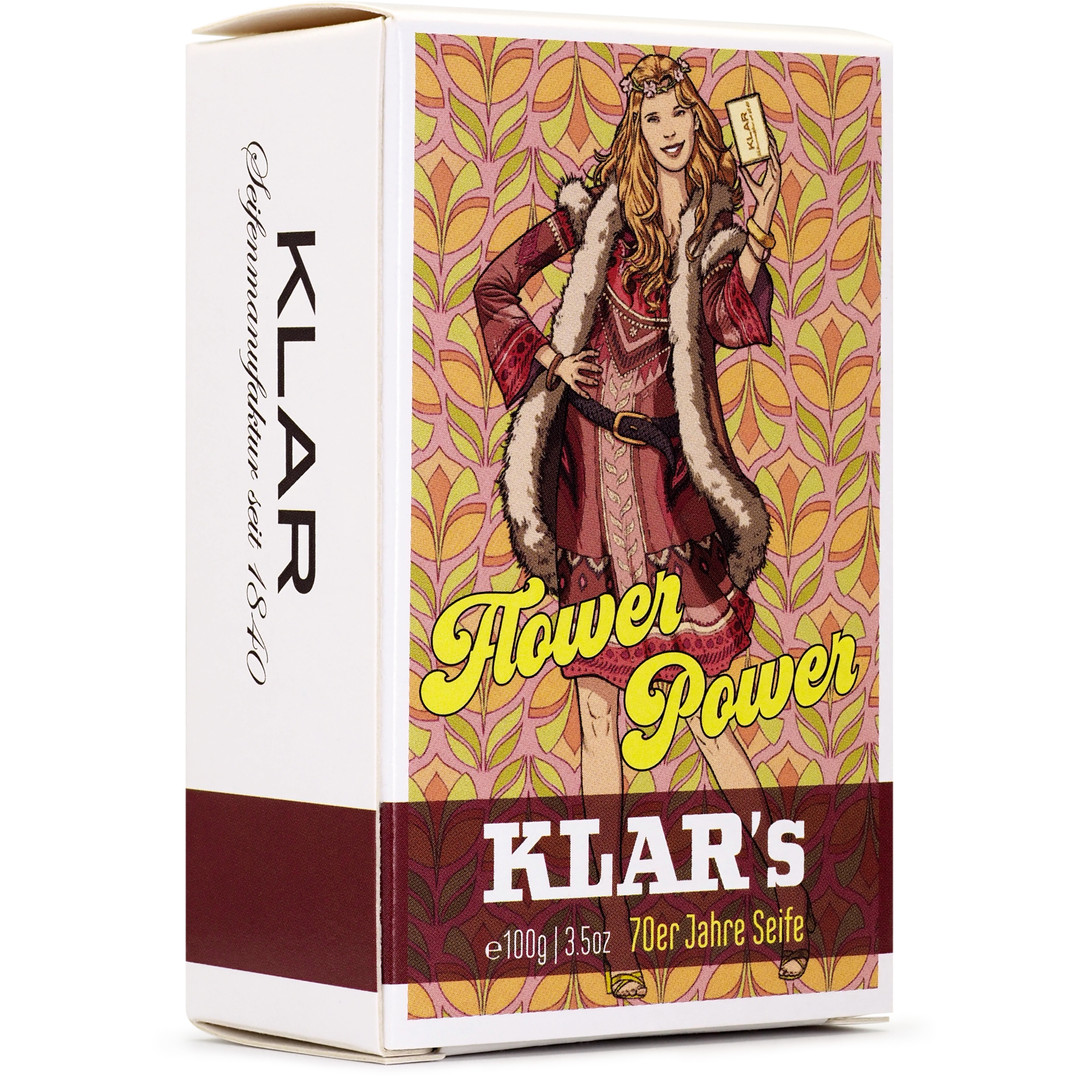 Klar Seifenmanufaktur Flower Power – 70er Jahre Seife