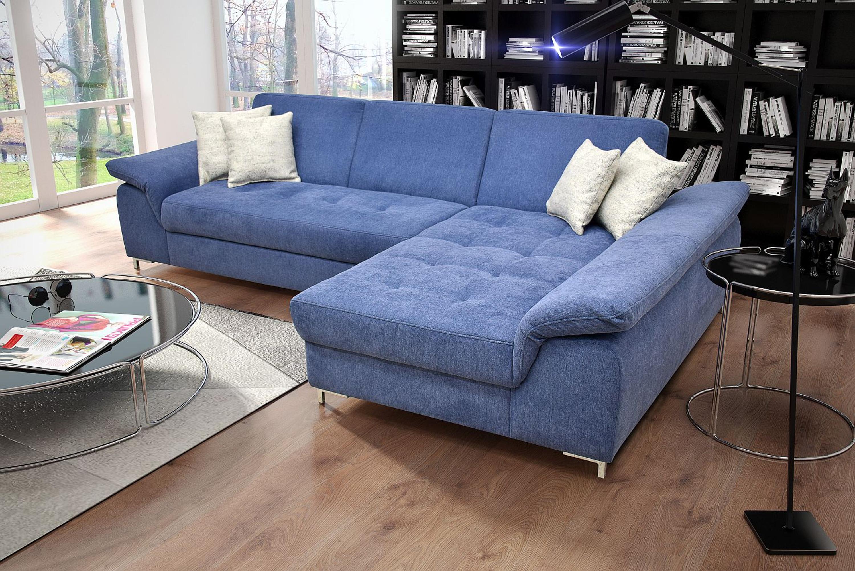 Details Zu Ecksofa Armlehnenfunktion Microfaser Blau Xl Sofa Recamiere Wahlbar Do Elsi